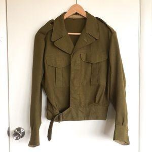 Vintage 1952 Wool Military Army Jacket Australia